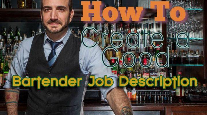 Bartender Job Description Epic Guide