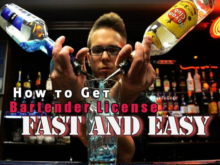 Tips on how to get bartender license and certificate